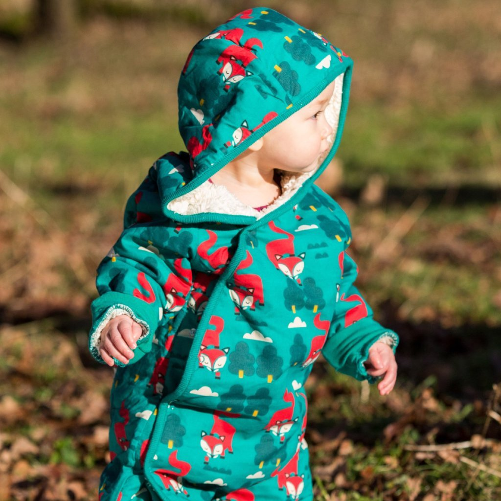 Snowsuit- Winter Fox – Organic Baby Clothes